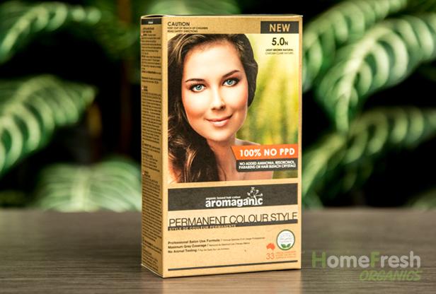 Home Fresh Organics Organic Hair Colour 5 0n Light Brown Natural