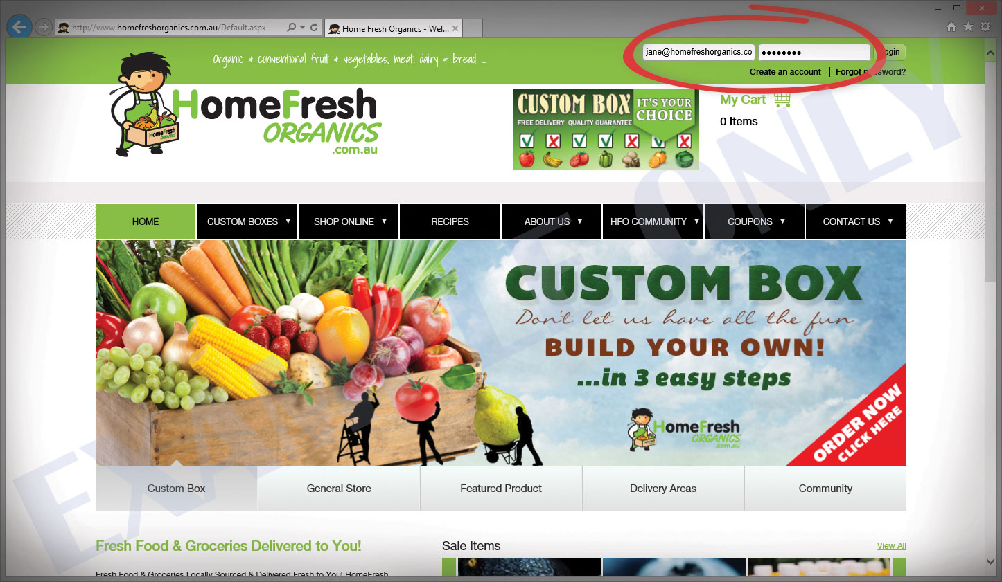 Home fresh organics how to customise your box awsnew for Fresh home login