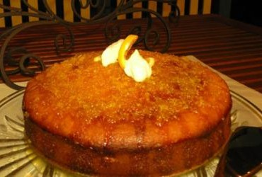 Home Fresh Organics - Orange Yoghurt Syrup Cake